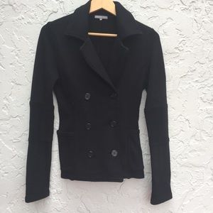 JAMES PERSE Size 2 Black Fleece Pea coat Blazer